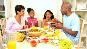 a family gathering at the dinner table stock footage 1637323