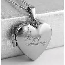 my angel in loving memory locket