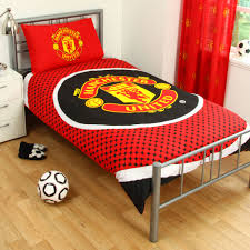 Manchester United Bed Linen - manchester united man u fc red football reversible duvet quilt