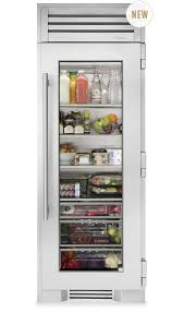 sliding glass door fridge true residential 30