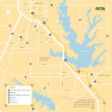 Dallas County Map Submission Official Map Dcta A Train Map Transit Maps