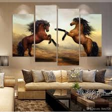 2017 running horse painting modern wall art painting home