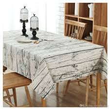 cheap table linens for sale wood grain tablecloth cotton linen rectangle table cloth for table