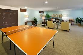 home ping pong table wooden ping pong table basement contemporary with artwork basement