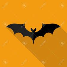 happy halloween flat design shape of a bat with long shadow