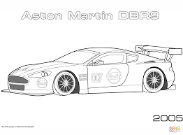 2005 aston martin dbr9 coloring page free printable coloring pages
