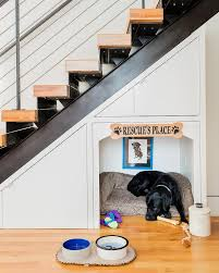 under the stairs built in dog bed design ideas