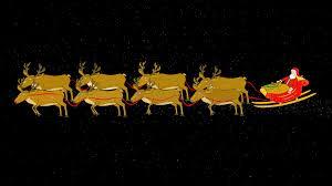 santa sleigh flies stops transparent alpha motion background