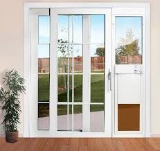 Secure Sliding Patio Door Fantastic Pet Patio Door With Pet Door Security Sliding Door