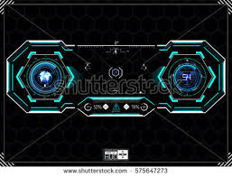 hud interface vector set download free vector art stock