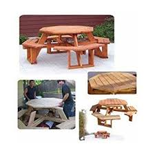Picnic Table Plans Free Octagon by Woodworking Project Paper Plan To Build Octagon Picnic Table