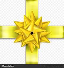 christmas gift bow gift bow gold yellow ribbon vector birthday new year christmas