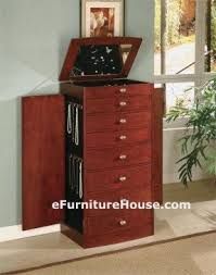 Jewelry Armoire Cherry Contemporary Jewelry Armoire Foter