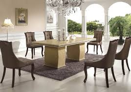 contemporary marble dining table for 6 brown dining chairs above