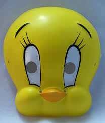 old fashioned halloween masks looney tunes tweety bird vintage halloween mask rubies 1994