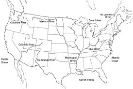 Blank Map Of Us Blank Map Of The United States Printable Usa Map Pdf Template Us