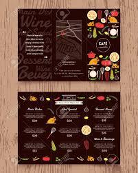 restaurants menu templates free restaurant menu design pamphlet vector template in a4 size tri restaurant menu design pamphlet vector template in a4 size tri fold stock vector 39559141
