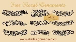 free vector set floral ornament designs free vectors ui
