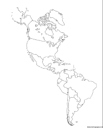 blank map of north america continent geography blog printable