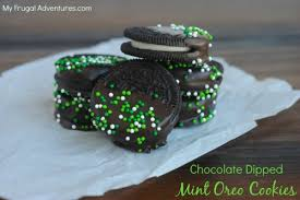 chocolate dipped mint oreos recipe perfect for st patrick u0027s day