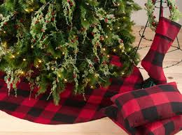 plaid tree skirt saro 9025 buffalo plaid tree skirt