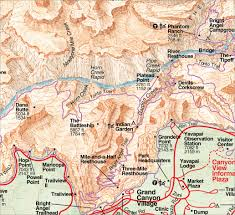 Map Of Grand Canyon Rufus Guides Map U0026 Guide To Grand Canyon South Rim