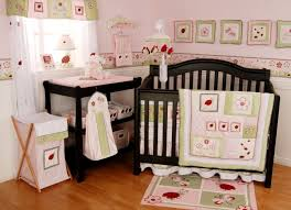 Pink Rug For Girls Room Baby Nursery Cute Baby Room Decoration Using White Crib And Pink