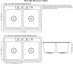 standard sink drain size magnificent stunning standard double kitchen sink size basin of