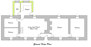 Large Cabin Floor Plans Ground Floor Plan For The Traditional Irish Linear Farm Cottage