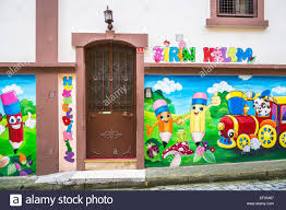 a mural on an exterior wall of a day care center in trabzon a mural on an exterior wall of a day care center in trabzon turkey eurasia