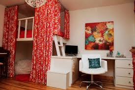 Funky Living Room Wallpaper - chic loft beds for teens in bedroom contemporary with funky teen