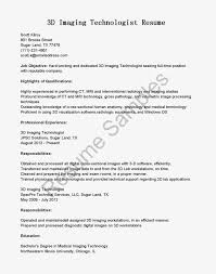 Digital Resume Example by Digital Imaging Specialist Cover Letter