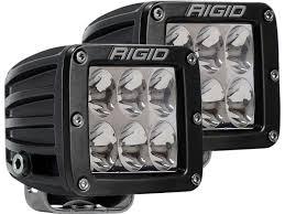 rigid industries led driving lights d series pro driving pair surface white black rigid industries