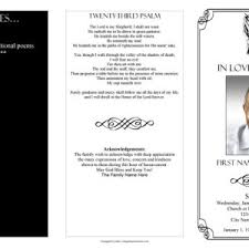templates for funeral program patriotic funeral program template with poem and orders of service