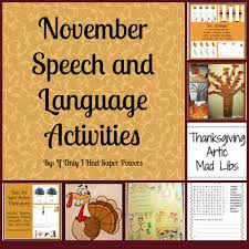 thanksgiving vocabulary words november speech and language activities u2014 super power speech