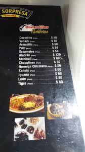 cuisine s 60 a great quesadillas menu picture of mercado de san juan