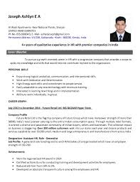 Sample Hr Resume For Experienced by Resume Example For Human Resource Position Templates
