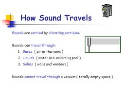 can sound travel through space images How sound travels sounds are carried by vibrating particles jpg