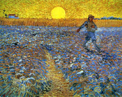 sower with setting sun vincent van gogh wallpaper image