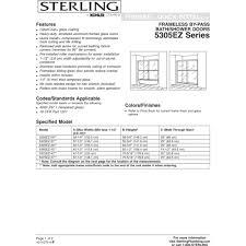 sterling 5325ez 57s finesse silver shower doors efaucets com
