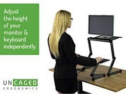 ergonomic lay down desk amazon com workez standing desk conversion kit affordable