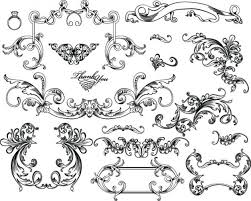 european gorgeous color pattern vector material 5 ornament
