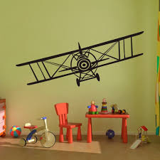 Wall Murals Amazon by Amazon Com Vinyl Airplane Wall Decal Biplane Wall Sticker