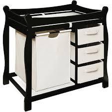 Badger Basket Changing Table White Badger Basket Changing Table With Her And Baskets Black