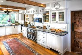 Transitional White Kitchen - mediterranean style kitchen with transitional white cabinets