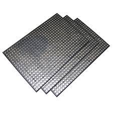 Commercial Rubber Flooring Buffalo Tools Heavy Duty 24 In X 36 In Rubber Floor Mat In Black