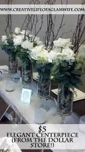 Cheap Easy Wedding Centerpieces by Diy 5 Dollar Elegant Dollar Store Centerpiece Tutorial