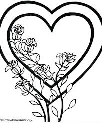 hearts angel wings coloring pages roses valentine