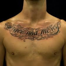 chest tattoo ideas for men chest tattoo lettering ideas for mens