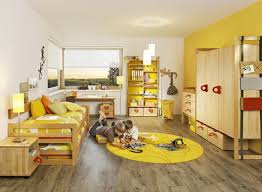 Bedroom Decorating Ideas Yellow Wall Bedroom Creative Interior In Boys Room Decoration With Red Furry